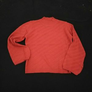 Orange knit sweater brand new size large